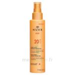 Spray Lacté Moyenne Protection  Spf20 Nuxe Sun150ml à Libourne