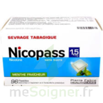 NICOPASS 1,5 mg SANS SUCRE MENTHE FRAICHEUR, pastille édulcorée à l'aspartam et à l'acésulfame potassique à Libourne