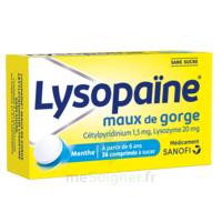 LysopaÏne Comprimés à Sucer Maux De Gorge Sans Sucre 2t/18 à Libourne