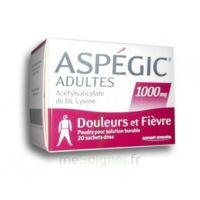 ASPEGIC ADULTES 1000 mg, poudre pour solution buvable en sachet-dose 20 à Libourne
