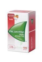 NICORETTE 2 mg Gom à mâcher médic sans sucre fruits Plq/105 à Libourne