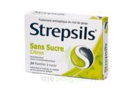 Strepsils Citron Sans Sucre, Pastille édulcorée à L'isomalt, Au Maltitol Et à La Saccharine Sodique à Libourne