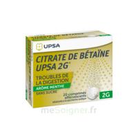 Citrate De Bétaïne Upsa 2 G Comprimés Effervescents Sans Sucre Menthe édulcoré à La Saccharine Sodique T/20 à Libourne