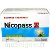 Nicopass 2,5 Mg Pastille Menthe Fraîcheur Sans Sucre Plq/96 à Libourne