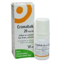 CROMABAK 20 mg/ml, collyre en solution à Libourne