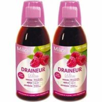 MILICAL DRAINEUR ULTRA Solution buvable framboise 2*500ml à Libourne