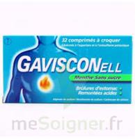 GAVISCONELL Coprimés à croquer sans sucre menthe édulcoré à l'aspartam et à l'acésulfame potas Plq/24 à Libourne