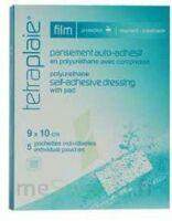 Tetraplaie Film Pansement Adhésif Stérile Film Pu 9x10cm B/5 à Libourne