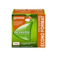 Nicorette 2 Mg Gomme à Mâcher Médicamenteuse Sans Sucre Fruits Plq/210 à Libourne