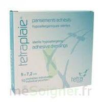 TETRAPLAIE Pansement adhésif stérile 5x7,2cm Pochette/10 à Libourne