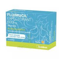 Fluimucil Expectorant Acetylcysteine 600 Mg Glé S Buv Adultes 10sach à Libourne