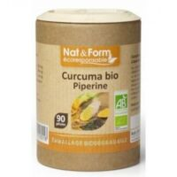 Nat&form Eco Responsable Curcuma + Pipérine Bio Gélules B/90 à Libourne