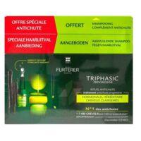 René Furterer Triphasic Progressive Sérum Antichute Coffret 8 Flacons X 5,5ml + Shampoing Stimulant 100 Ml à Libourne